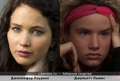 Дженнифер Лоуренс и Джульетт Льюис