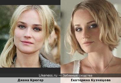 Диана Крюгер и Екатерина Кузнецова