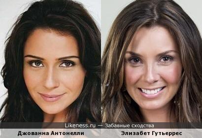 Джованна Антонелли и Элизабет Гутьеррес