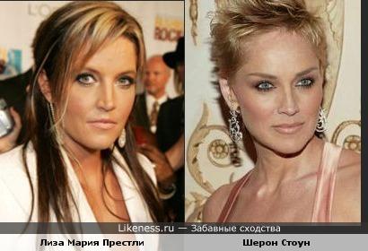 Лиза Мария Престли сильно похожа на Шерон Стоун