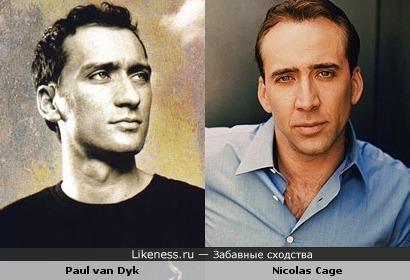 Пол ван Дайк похож на Николаса Кейджа