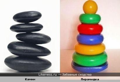 Камни похожи на детскую пирамидку