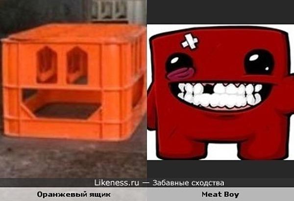 Ящик похож на персонажа игры