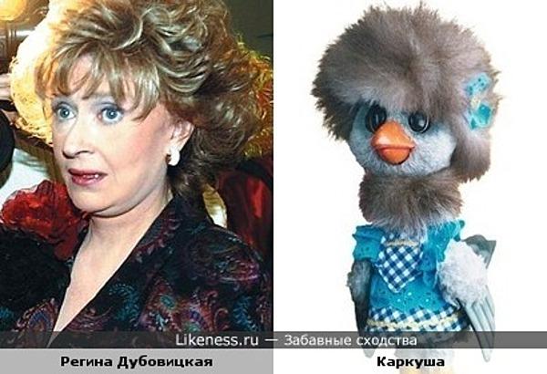 Регина Дубовицкая похожа на Каркушу