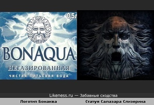Логотип Бонаква похож на статую Салазара Слизерина