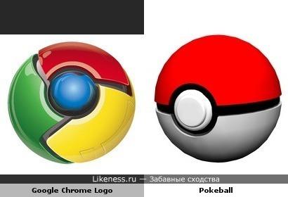 Логотип Google Chrome похож на покеболл