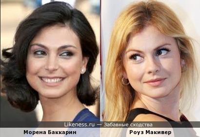 Роуз Макивер и Морена Баккарин