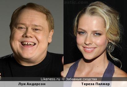 Луи Андерсон и Тереза Палмер немного похожи