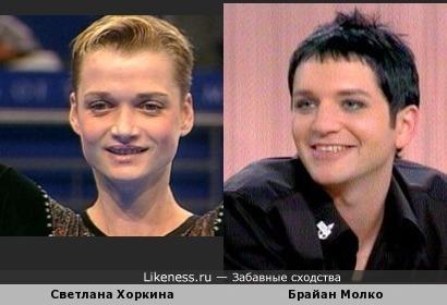 Светлана Хоркина без прикрас и Брайан Молко с прикрасами :)