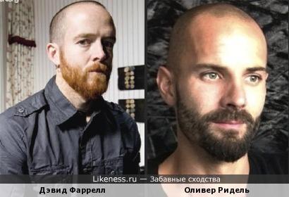 Дэвид Фаррелл - бас-гитарист Linkin Park и Оливер Ридель бас-гитарист Rammstein