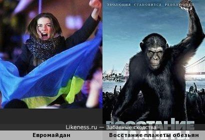 "Евромайдан напоминает постер ""Восстания планеты обезьян"""