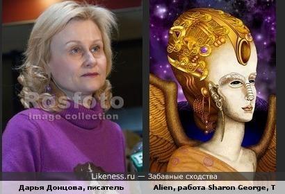 Дарья Донцова похожа на Alien, мне так видится:)
