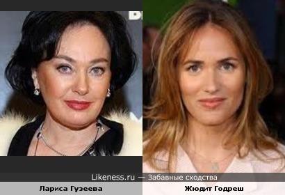 Лариса Гузеева и Жюдит Годреш похожи