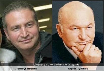 Леонид Агутин и Юрий Лужков кажутся мне похожими