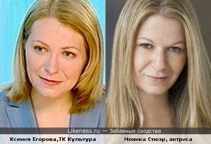 Ксения Егорова похожа на Монику Стюэр