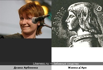 Диана Арбенина чем-то напомнила Жанну д'Арк