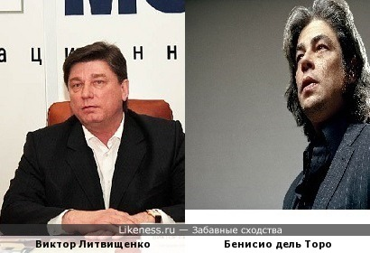 Виктор Литвищенко и Бенисио дель Торо