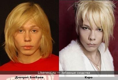 Дмитрий Бикбаев и Киро из Cinema Bizarre похожи