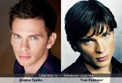Девон Грайе (Young Dexter) похож на Тома Уэллинга (Smallville)