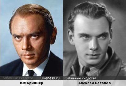 Юл Бриннер тут похож на Алексея Баталова