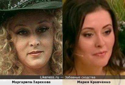 Маргарита Терехова и Мария Кравченко