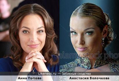 Анна Попова и Анастасия Волочкова