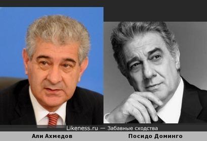 Вице - премьер Азербайджана похож на Пласидо Доминго