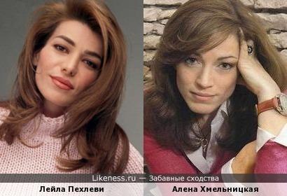 Алена Хмельницкая похожа на Лейлу Пехлеви
