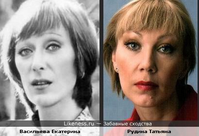 Васильева Екатерина похожа на Рудину Татьяну