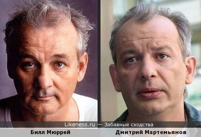 Билл Мюррей и Дмитрий Мартемьянов похожи