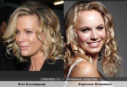 Каролин Возняцки - Ким Бэсинджер: дочки-матери?