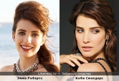 Эмма Робертс похожа на Коби Смолдерс