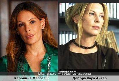 Каролина Ферраз и Дебора Кара Ангер