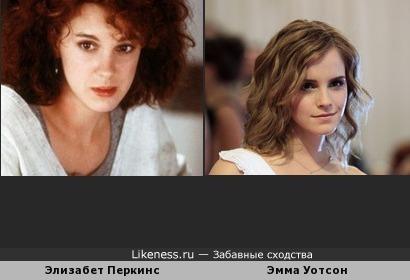 Элизабет Перкинс и Эмма Уотсон