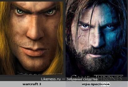 """Постер игры warcraft 3 похож на постер сериала """"игра престолов"""""""