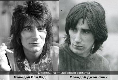 Молодые Ронни Вуд и Джон Линч имели схожий типаж