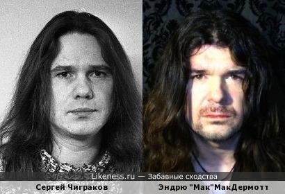 Музыкант Сергей Чиграков похож на Мзыканта Эндрю МакДермотта