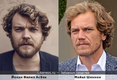 Йохан Филип Асбек похож на Майкла Шеннона
