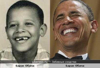 Барак Обама,за исключением мелких деталей,похож на Барака Обаму...