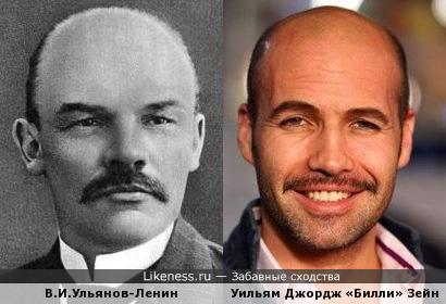 """Вождь """"Мирового пролетариата"""" и американский актер."""
