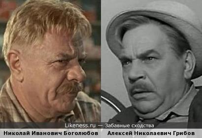 """Николай Боголюбов в к/ф """"Аленка"""" похож на Алексея Грибова."""