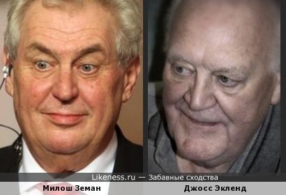 Президент Чехии и английский актер