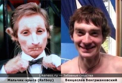 Венгржановский похож на мальчика-крысу