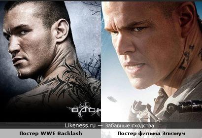 Постер WWE Backlash напоминает постер фильма Элизиум