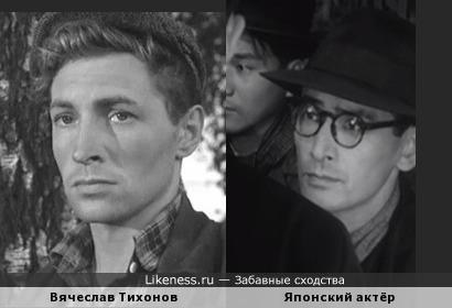 """Вячеслав Тихонов и неизвестный актёр (х/ф """"Жить"""", 1952)"""