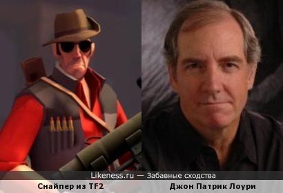 Снайпер похож на Джон Патрик Лоури
