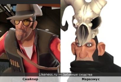 Снайпер из TF2 похож на Маразмуса