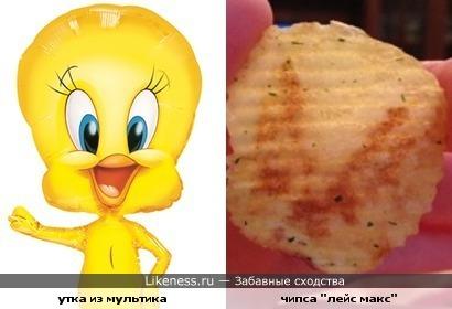 Чипсинка похожа на Утку