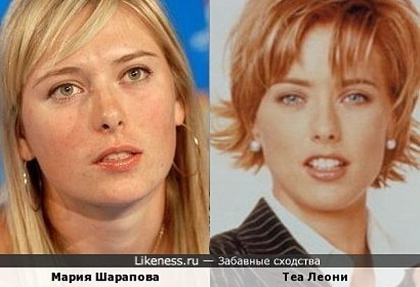 Мария Шарапова и Теа Леони