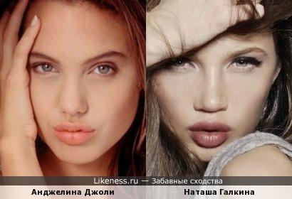 Наташа Галкина похожа на Анджелину Джоли